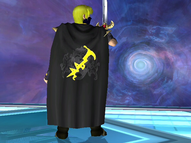 showing off my cape=)... with the official MaxThunder logo=)